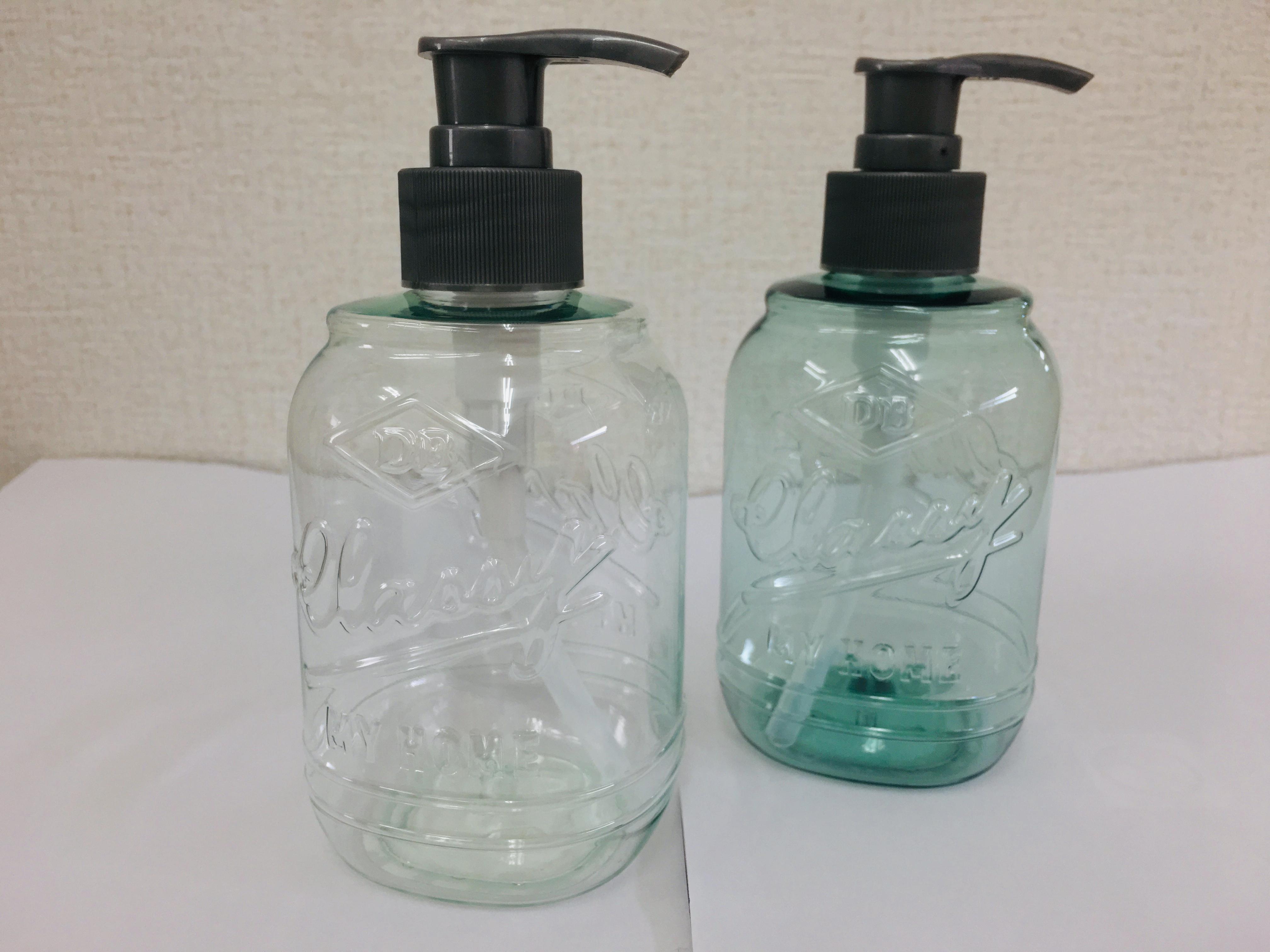ポンプボトルガラス風 320ml
