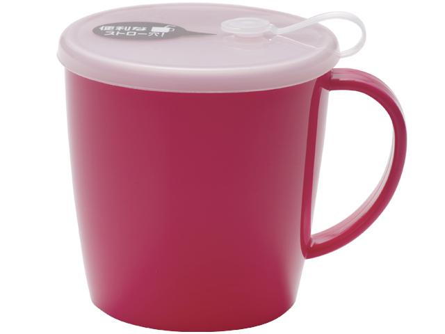 G&B フタ付きマグカップ ピンク