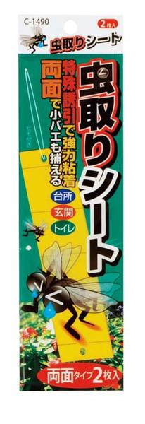 虫取りシート/2P(両面タイプ)/台紙付