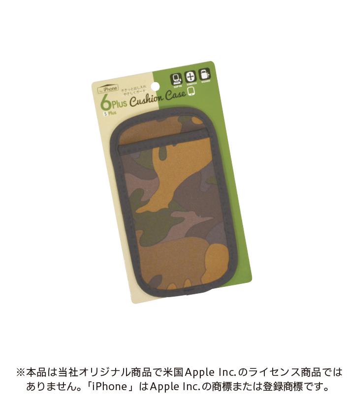スマートフォン クッションケース iPnone6 Plus カモフラ