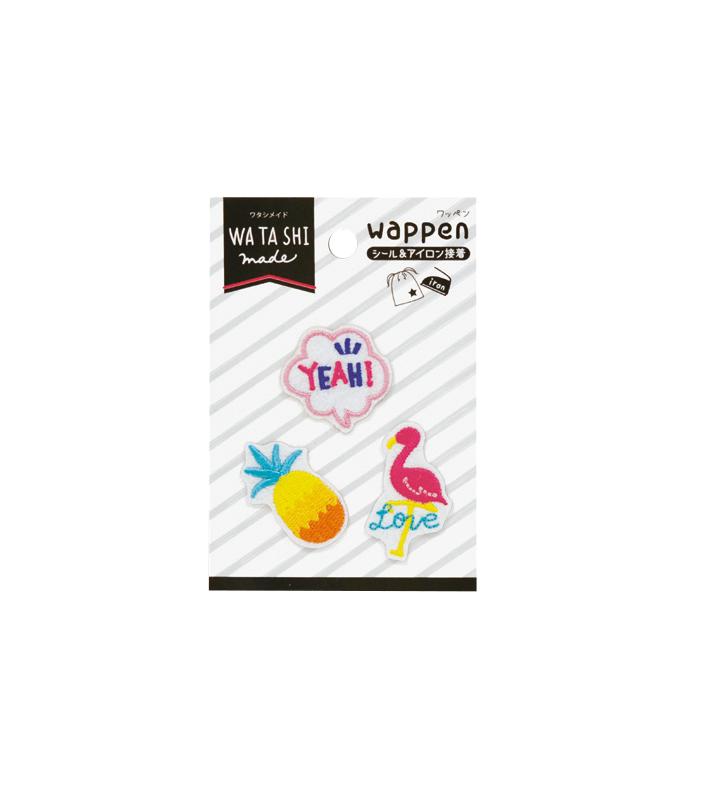 ワタシメイド カラフルワッペンセット フラミンゴ