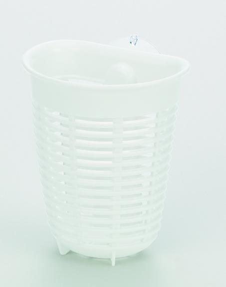 フローブラシポケット(吸盤付) ホワイト