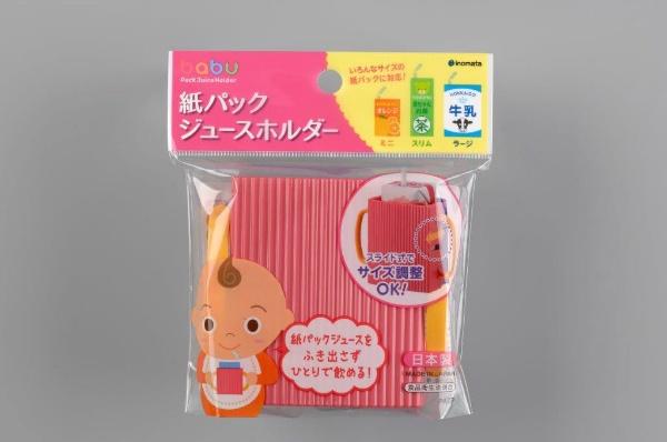 紙パックジュースホルダー ピンク