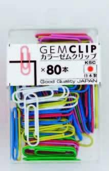 カラーゼムクリップカラーMIX 80本入