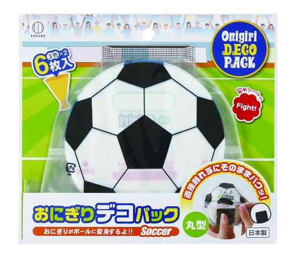 おにぎりデコパック丸型 サッカーボール
