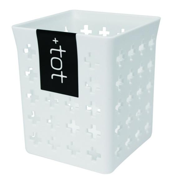 +totボックス CUBE (フタ付き PINK/BLUE色込み)
