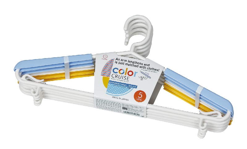 color CRUISE スライドプレ-ンハンガ- 5本組