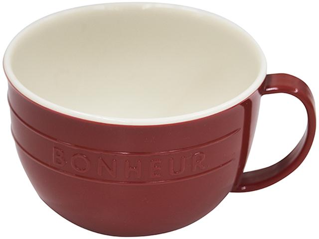 ボヌール スープマグ レッド