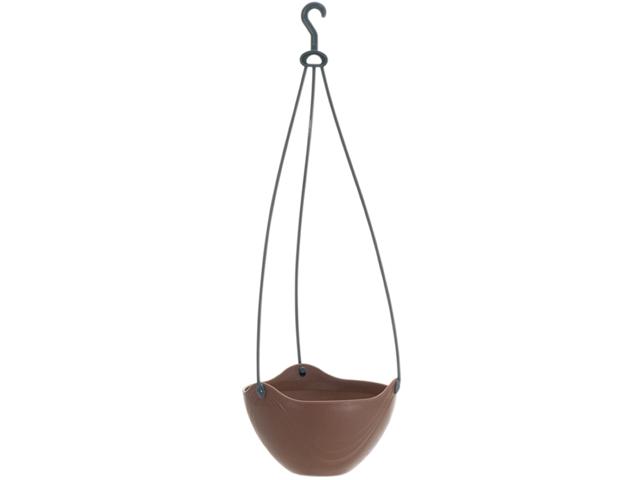 フラワー吊り鉢 チョコブラウン