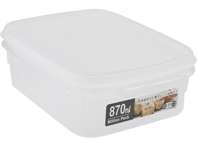 ミリオンパック浅型870 ホワイト