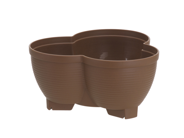 連結鉢 タワーポット チョコブラウン