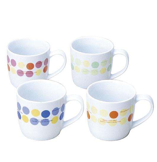 ドットマグカップ(陶器)