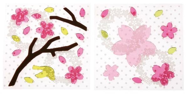 ジェルインテリアステッカー(桜花)