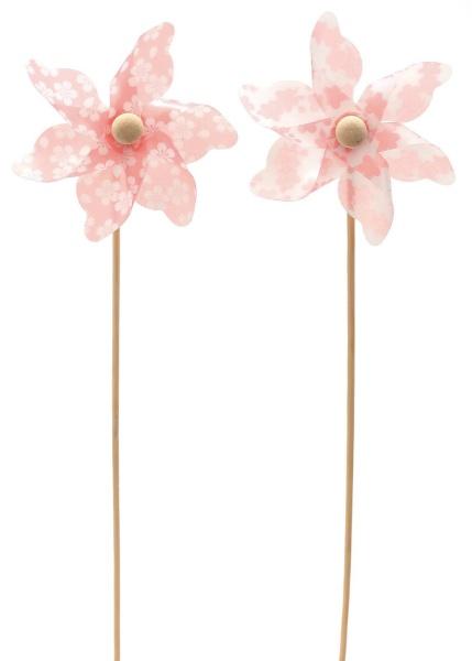 桜満開風車