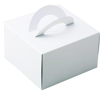 ケーキBOXホワイト(M)ケーキトレー付き