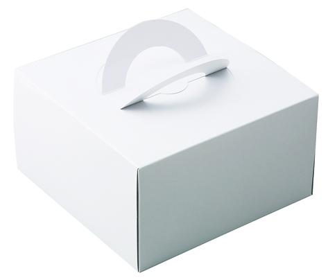 ケーキBOXホワイト(L)ケーキトレー付