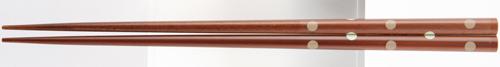 塗箸 しらたま(先乾) 22.5cm