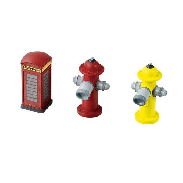 インテリアオブジェ(電話ボックス・消火栓)