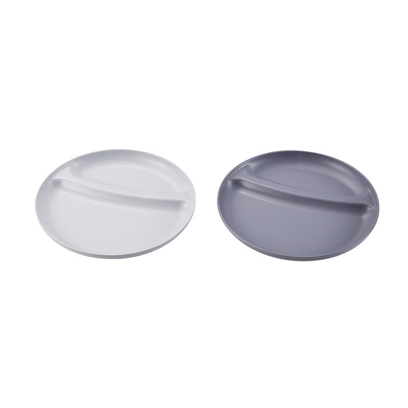 メラミン食器 仕切り付プレート(丸型)
